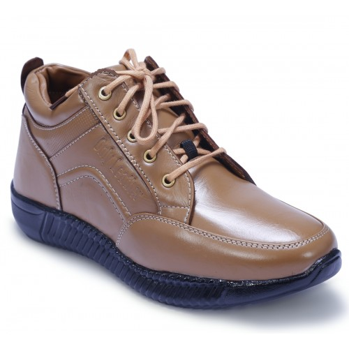 Shoebook Brown genuine leather Lace Up Boots