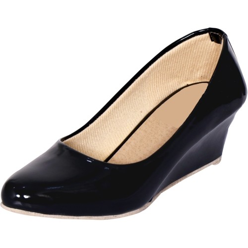 TOSHINA SHOES KING Black Wedge Heel Formal Shoes