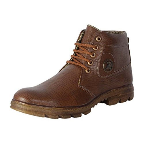 Lee Peeter Brown Synthetic Lace Up Boots