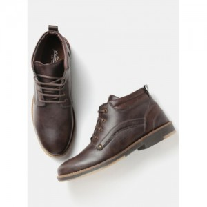 Roadster Brown Synthetic Lace Up Boots