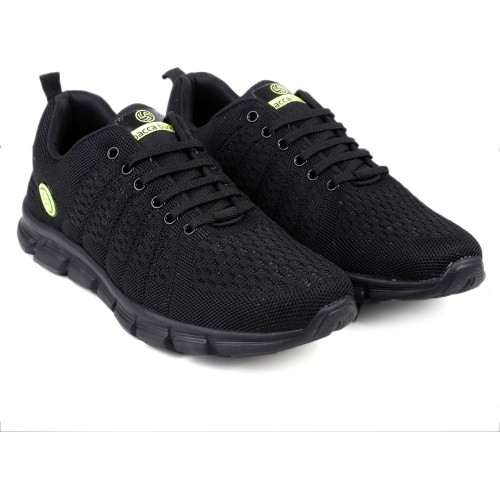 Bacca Bucci Black Running Shoes For Men
