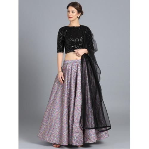 58e2c11cf8 ... Bollywood Vogue Multi-Coloured Embroidered Made to Measure Lehenga  Choli with Dupatta ...