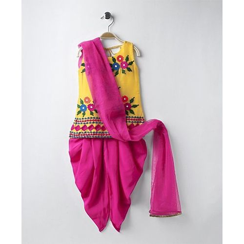 Twisha Floral Design Salwar Kameez Set - Yellow