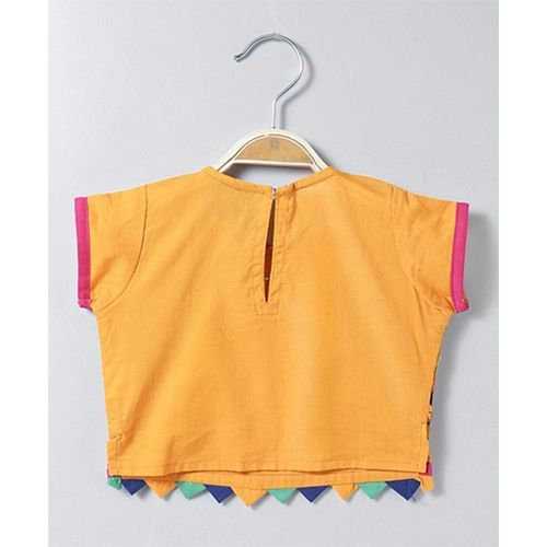 Twisha Printed Dhoti With Embroidered Mock Jacket Top - Multicolor