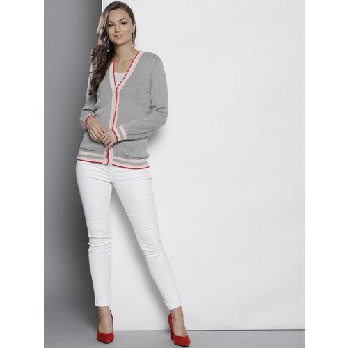 DOROTHY PERKINS Women Grey Solid Cardigan