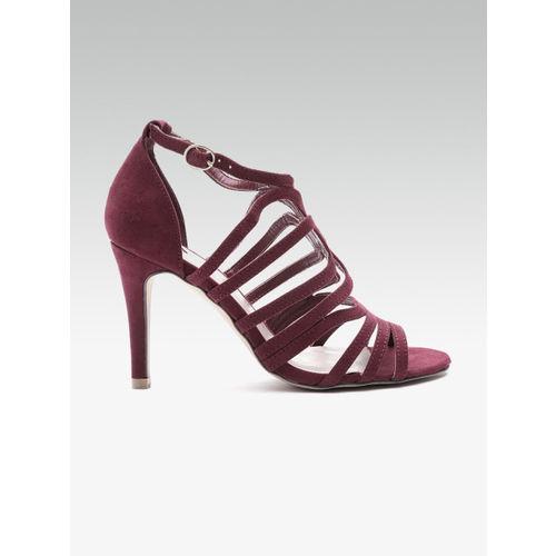 242ef15a891 Buy DOROTHY PERKINS Women Maroon Solid Slim Heels online | Looksgud.in