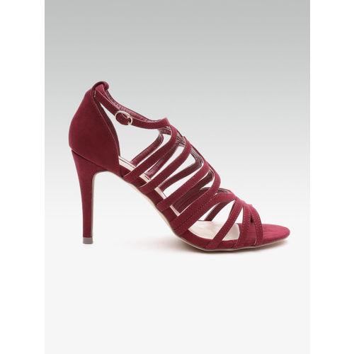 7958af999f4 Buy DOROTHY PERKINS Women Maroon Solid Heels online | Looksgud.in