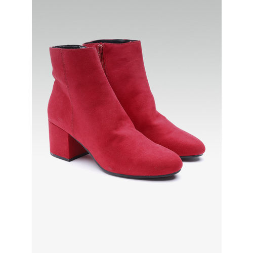 DOROTHY PERKINS Women Red Solid Heeled Boots