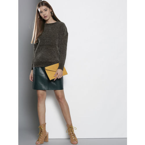 DOROTHY PERKINS Women Olive Green Solid Pullover