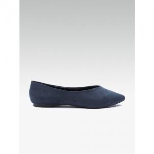 DOROTHY PERKINS Women Navy Blue Solid Ballerinas