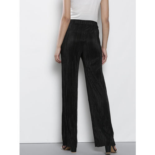 DOROTHY PERKINS Women Black Regular Fit Solid Parallel Trousers