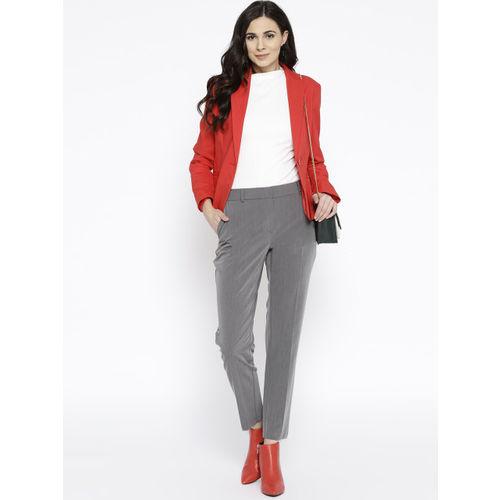 DOROTHY PERKINS Women Grey Slim Fit Solid Trousers
