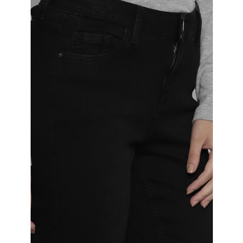 DOROTHY PERKINS Women Black Regular Fit Mid-Rise Clean Look Stretchable Jeans