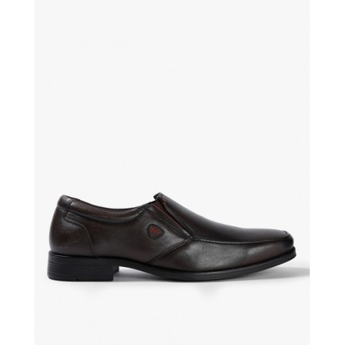 RED CHIEF Textured Formal Slip-Ons with Elasticated Gussets