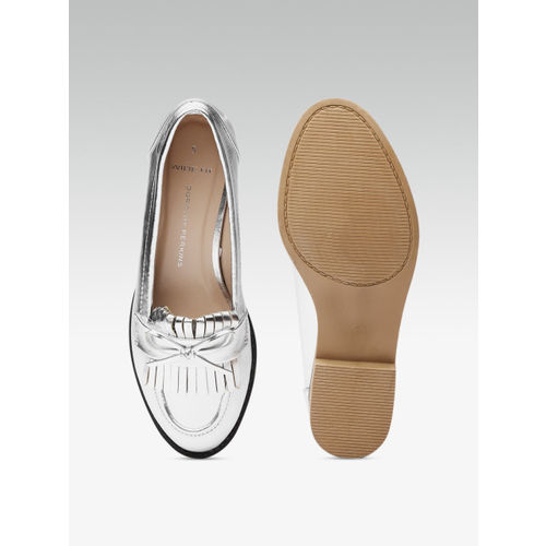 DOROTHY PERKINS Women Silver-Toned Loafers