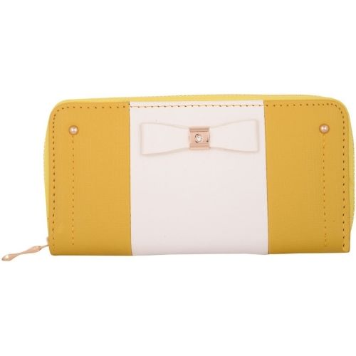 KRIO DESIGNS Women Casual Yellow, White Artificial Leather Wallet