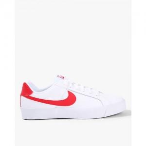 save off ece4e 71e02 Nike Men White COURT ROYALE Leather Sneakers