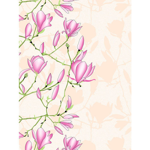 Divine Casa Off-White & Pink Floral Flat 144 TC Cotton 1 King Bedsheet with 2 Pillow Covers