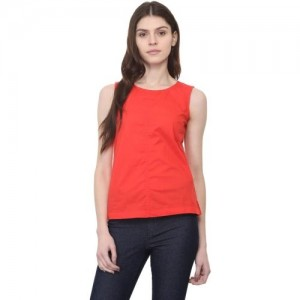 11b85b2a8f9aef Buy Athena Casual Sleeveless Solid Women s Red