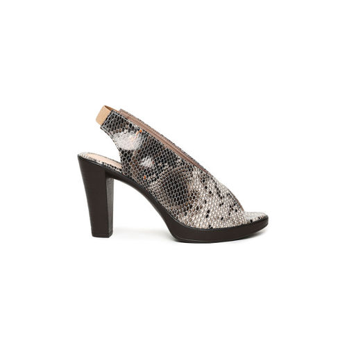 Catwalk Women Brown Printed Peep Toes