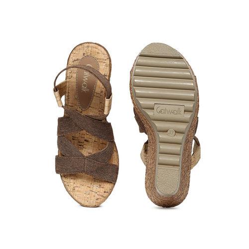 Catwalk Women Brown Solid Sandals