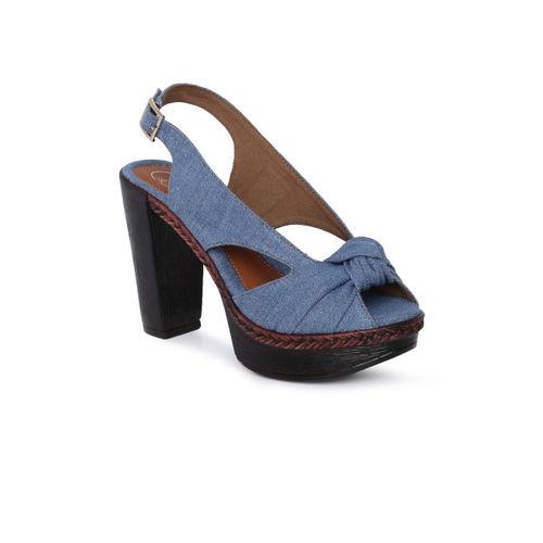 Catwalk Women Blue Solid Block Heels Sandals
