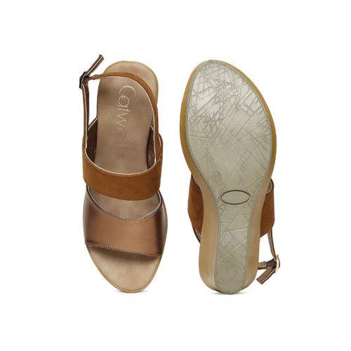 Catwalk Women Copper-Toned Solid Sandals