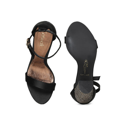 Catwalk Women Black Solid Sandals