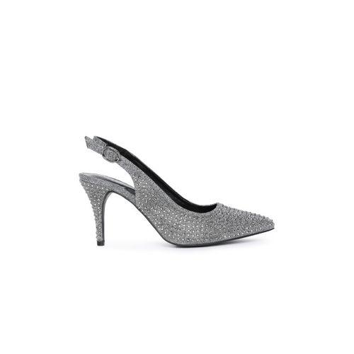 Catwalk Women Silver-Toned Embellsihed Sandals