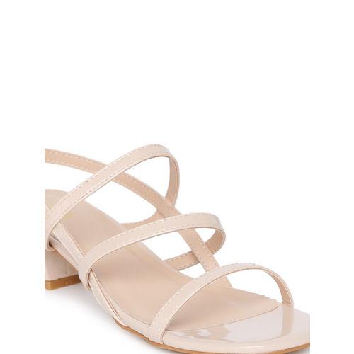 Catwalk Women Skin Color-Coloured Solid Sandals