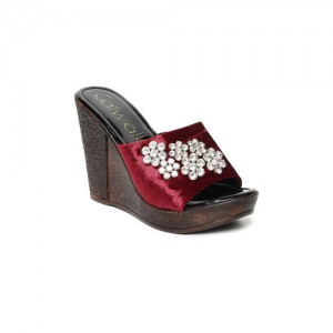 Catwalk Women Maroon Solid Heels