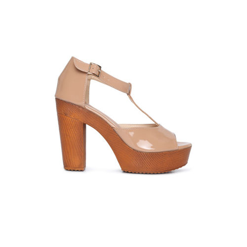Catwalk Women Skin Color-Coloured Peep Toe Sandals
