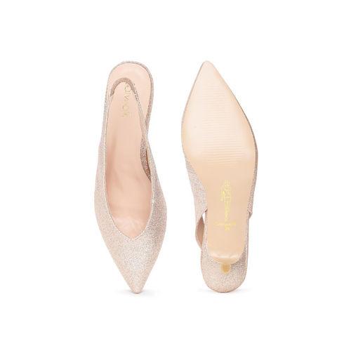 Catwalk Women Gold-Toned Solid Sandals
