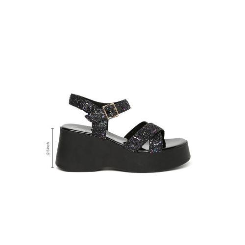 Catwalk Women Black Embellished Sandals
