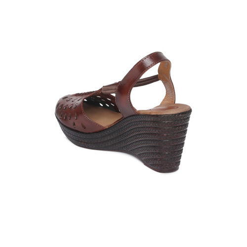 Catwalk Women Brown Solid Leather Wedges