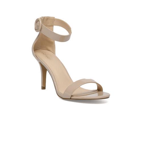 Catwalk Women Skin Color-Coloured Solid Open-Toe Slim Heels