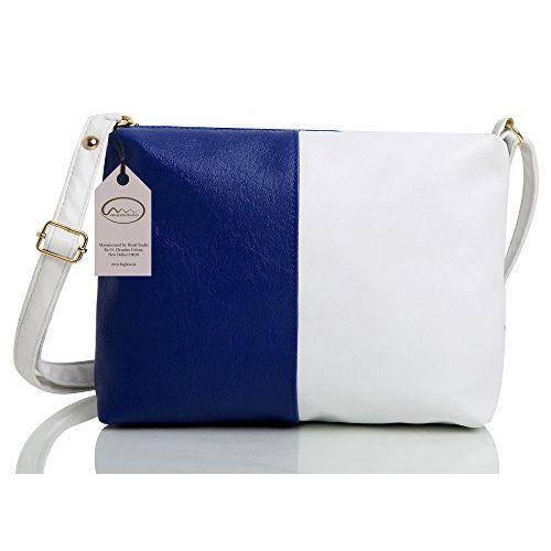 Mammon Women's Letherette Multi-Color Handbag And Sling Bag Combo