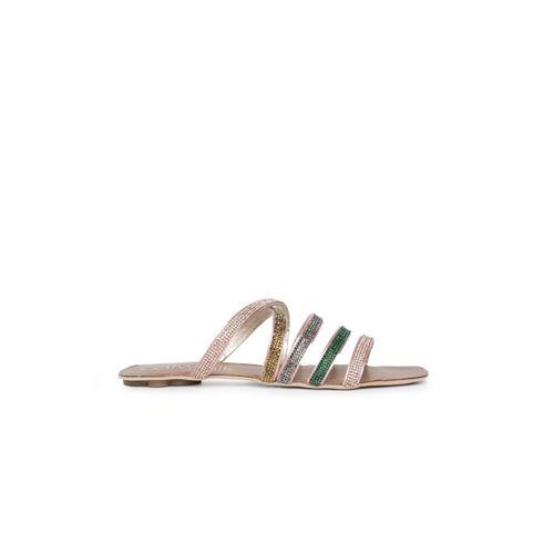 Catwalk Women Multicoloured Solid Synthetic Open Toe Flats