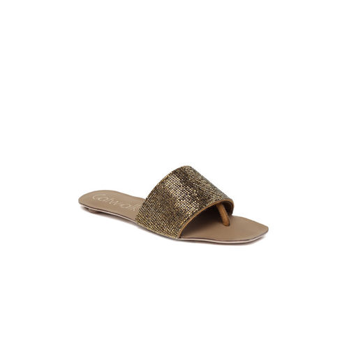 Catwalk Women Bronze-Toned Solid Flats