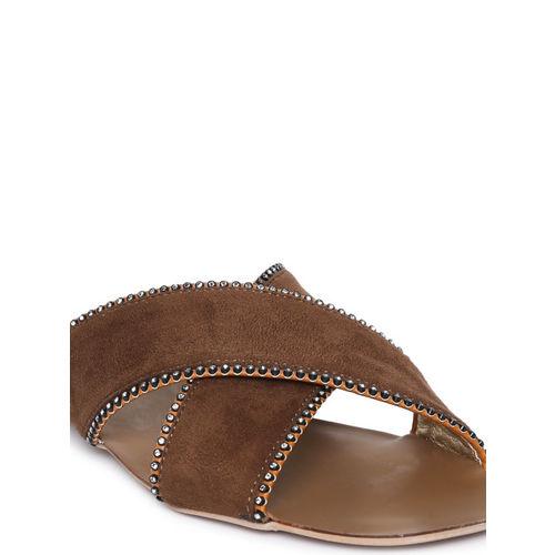 Catwalk Women Brown Solid Open Toe Flats