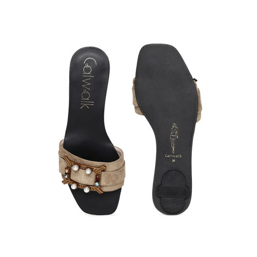 Catwalk Women Taupe Solid Flats
