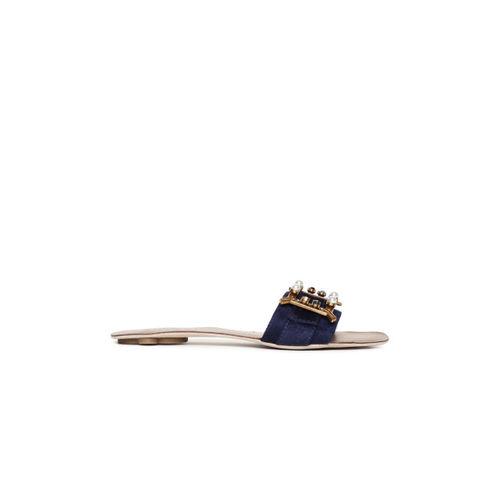 Catwalk Women Navy Blue Solid Flats
