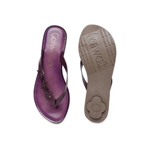 Catwalk Women Purple Solid Open Toe Flats
