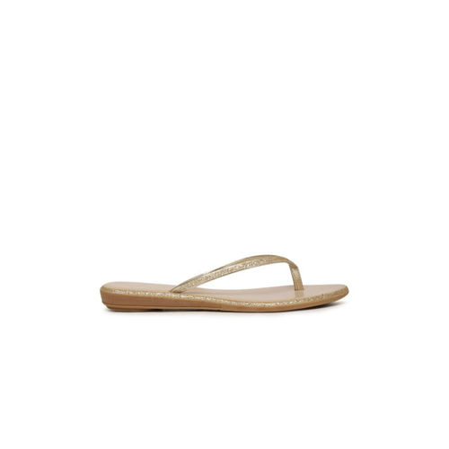 Catwalk Women Gold-Toned Solid Synthetic Flats