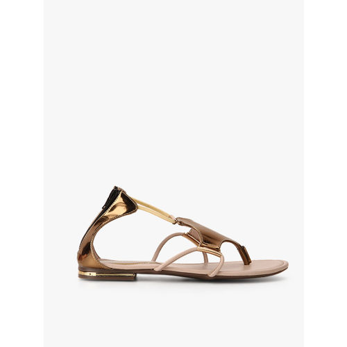 Catwalk Golden Metallic Sandals