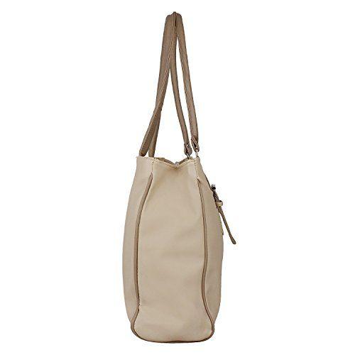 Alice Women's And Girls Pu Stylish Handbag And Wallet Clutch Combo(Cream)