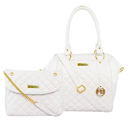 FLYING BERRY White Polyurethane Handbag Combo