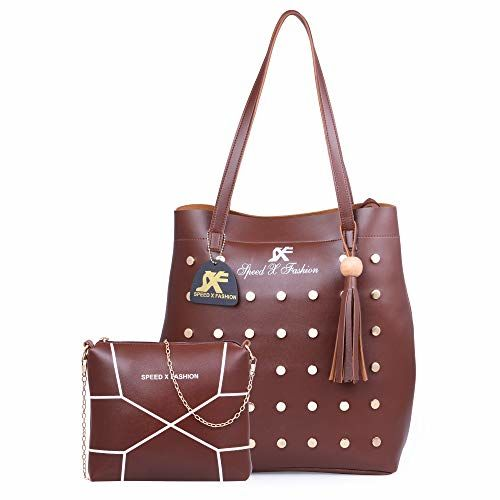 c8b7216e81b Buy Speed X Fashion Women's Shoulder Bag Combo (Brown) online ...