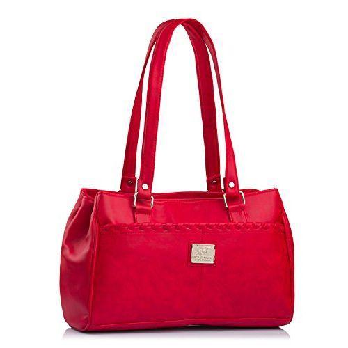 Fostelo Women's Combo Handbag & Clutch (Red & Red) (FSB-1060-FC-30)