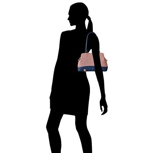 Fostelo Women's Combo Handbag & Clutch (Pink & White) (FSB-1149-FC-24)